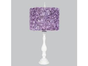 Jubilee Purple Rosette Shabby Chic Lamp