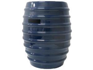 Navy Blue Ceramic Garden Stool Honey Pattern