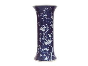 Blue and White Plum Vase