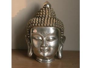 Bronze Buddha Head - Chrome