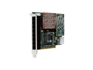 Digium 1A8A00F 8 Port Modular Analog PCI 3.3/5.0V Card, No Interfaces