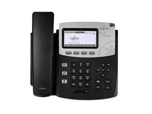 Digium 1TELD045LF D45 2-line SIP Phone with HD Voice Gigabit No Power Supply