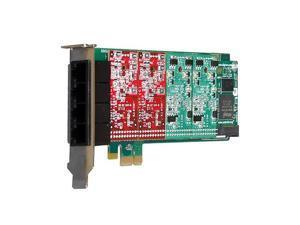 Digium 1A4B00F 4 Port Modular Analog PCI-Express X1 Card, No Interfaces