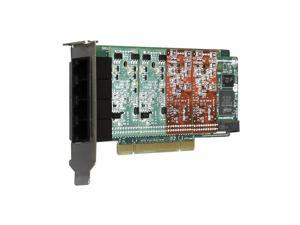 Digium 1A4A02F 4 Port Modular Analog PCI 3.3/5.0V Card with 4 Trunk Interfaces