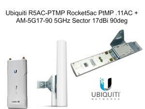 Ubiquiti R5AC-PTMP Rocket5ac PtMP .11AC + AM-5G17-90 5GHz Sector 17dBi 90deg