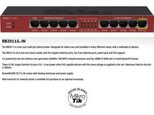 MikroTik RouterBOARD RB2011iL-IN 10 port layer 3 Gigabit Switch Router PoE OSL4