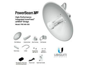Ubiquiti PBE-M5-300, PowerBeam M5 22dBi 400mW AIRMAX Bridge 300mm Outdoor 5GHz