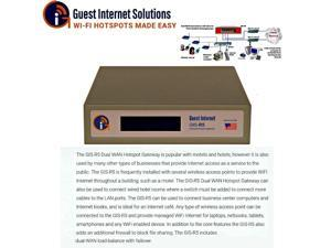 Guest Internet GIS-R5 Internet Hotspot gateway up to 100 concurrent dual-WAN