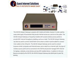 Guest Internet GIS-R6 Internet access gateway 200 concurrent user 3port switch