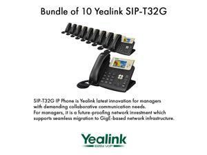 Yealink SIP-T32G Gigabit 3 Line VoIP Phone No Power Supply (10-Pack)