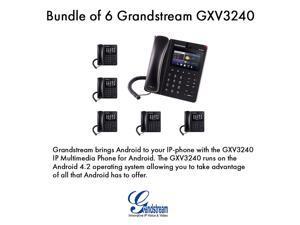 Grandstream GXV3240 Bundle of 6 Multimedia IP Phone WiFi BT PoE USB LCD SD
