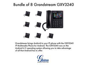Grandstream GXV3240 Bundle of 8 Multimedia IP Phone WiFi BT PoE USB LCD SD