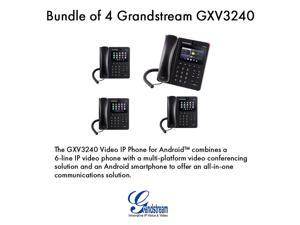 Grandstream GXV3240 Bundle of 4 Multimedia IP Phone WiFi BT PoE USB LCD SD