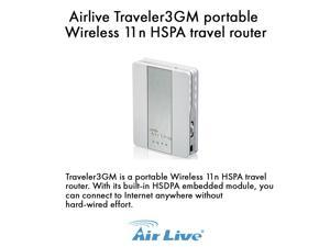 Airlive Traveler3GM 11n 3G Mobile Router with Built-in Sim Card