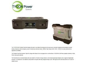 Tycon (TP-PP120-INV) 120W Portable Power Pack, USB,12VDC, 110VAC