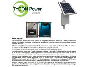 Tycon Power RPDC12-9-10 RemotePro 12V 9Ah Battery 2.5W Remote Power System 10W