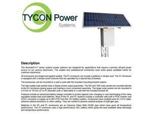 Tycon Power Systems RPST1212-100-140 RemotePro 35W Continuous Remote Power System