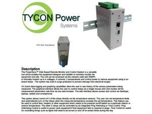 Tycon Power TPDIN-MONITOR-WEB - PowerSens? Remote station monitor and control.