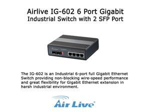 Airlive IG-602  6 Port Gigabit Industrial Switch with 2 SFP Port