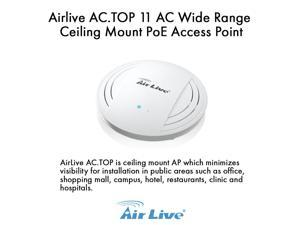 Airlive AC.TOP 11 AC Wide Range Ceiling Mount PoE Access Point.