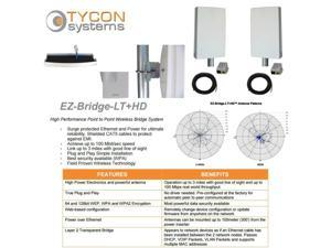 Tycon Systems EZBR-0516HD 5GHz Point to Point Wireless Bridge Systems