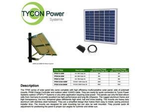 Tycon Power TPSK24-30W  24V 30W Solar Kit Panel, Pole Mount, Controller, Cable