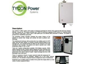 Tycon Power UPS-ST24-100-8-UBNT - UPSPro 192W 2400VA Backup Power System