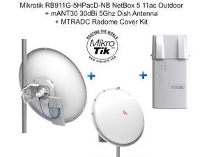 Mikrotik RB911G-5HPacD-NB NetBox 5 11ac Outdoor + mANT30 30dBi + MTRADC Radome