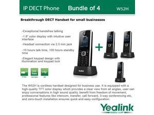 Yealink W52H, Bundle of 4 SIP Cordless VoIP Phone System for Business Solutions
