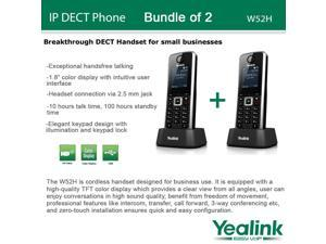Yealink W52H, Bundle of 2 SIP Cordless VoIP Phone System for Business Solutions