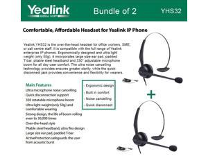Yealink YHS32 2-UNITS Headset Ultra noise cancelling Over-the-head style