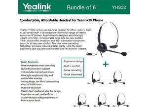 Yealink YHS32 6-UNITS Headset Ultra noise cancelling Over-the-head style