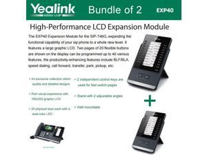 Yealink EXP40 Bundle of 2 LCD Expansion Module for SIP-T46G and SIP-T48G