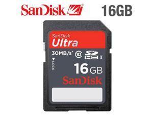 SanDisk Ultra 16GB 16G SD SDHC Flash Memory Card Class 10 30MB/s