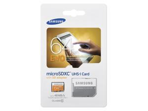 Samsung Electronics 64GB EVO Micro SDXC with Adapter Upto 48MB/s Class 10 Memory Card (MB-MP64D) With Dual Slot USB microSD/SD card reader