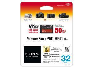 Sony 32 GB MS PRO-HG DUO HX High Speed Memory Card (MSHX32B/M)