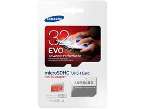 Samsung Evo Plus 32GB MicroSD HC Class 10 UHS-1 80mb/s Mobile Memory Card 32G MB-MC32DA with Adapter