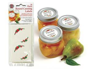 Round Canning Labels 24 Pk