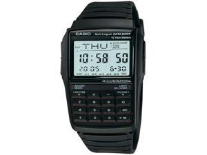 Casio DBC32-1A Men's Classic Digital Databank Multi-Lingual Calculator Watch
