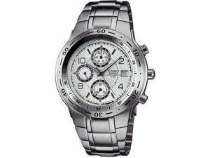 Casio EF506D-7A Two Tone Stainless Steel Edifice White Dial Tachymeter