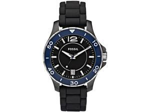 Fossil CE1036 Ceramic Black Dial Silicone Unisex Sport Watch