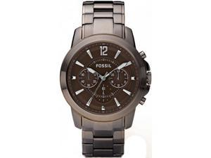 Fossil Grant Chronograph Brown Ion-plated Mens Watch FS4608