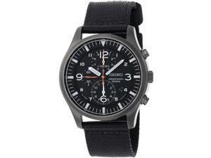 Seiko Chronograph Black Ion Mens Watch SNDA65