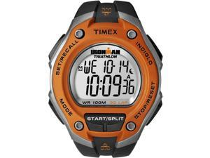 Timex Men's Ironman T5K529 Black Resin Quartz Watch with Silver Dial