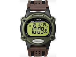 Timex T48042 Expedition Digital Chrono Water Resistant Brown Nylon Strap Watch