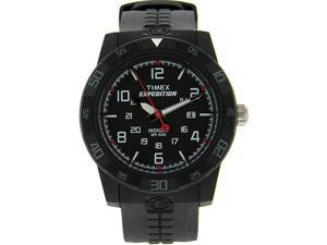 Timex Men's Expedition T49831 Black Resin Analog Quartz Watch with Black Dial
