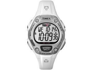Timex Women's Ironman T5K515 White Resin Quartz Watch with White Dial