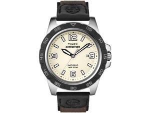 Timex Men's Expedition T49886 Black Nylon Quartz Watch with White Dial