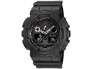 Casio G-Shock Analog Digital Blackout Military Watch GA100-1A1