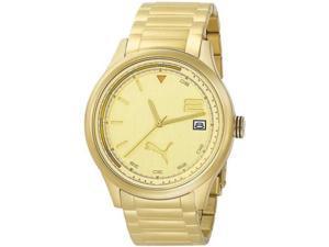 Men's Gold Tone Puma Wheel 3HD Sport Watch PU102731006